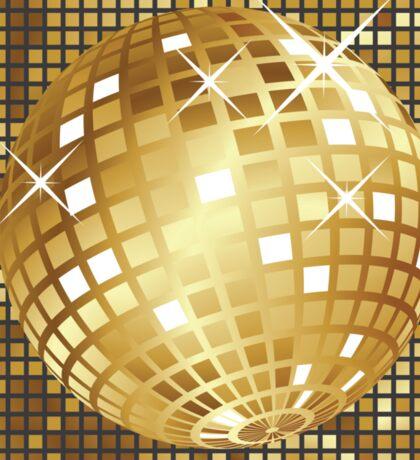 Golden disco ball Sticker