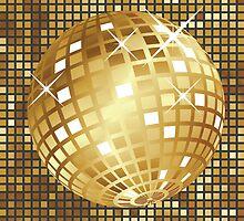 Golden disco ball by AnnArtshock