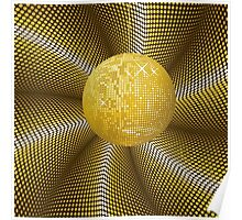 Golden disco ball 2 Poster