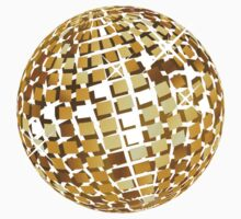 Golden disco ball 3 Kids Tee