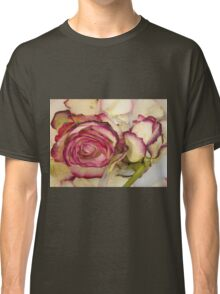White pink roses Classic T-Shirt