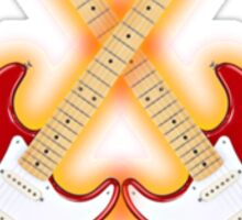 Double red american fender Stratocaster Sticker
