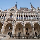 Budapest Parliament Building in Hungary by Keith Larby