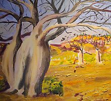 Dancing boabs ~~Australia by gillsart