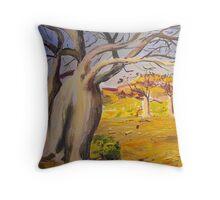 Dancing boabs ~~Australia Throw Pillow