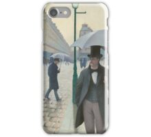 Gustave Caillebotte - Paris Street; Rainy Day iPhone Case/Skin