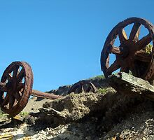Old Coal Mining Cart by Cheryl Parkes