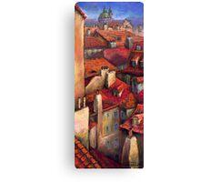 Prague  Roofs Canvas Print