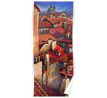 Prague  Roofs Poster