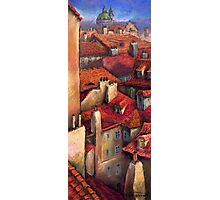Prague  Roofs Photographic Print