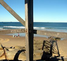 Lifesaver's Tower: Redhead Beach by Cheryl Parkes