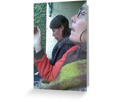 Eri & Kirsty take a smoko Greeting Card