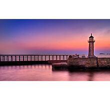 WHITBY HARBOUR AT SUNRISE Photographic Print