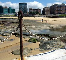 Newcastle Baths and Beach by Cheryl Parkes
