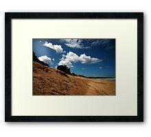 rye back beach Framed Print