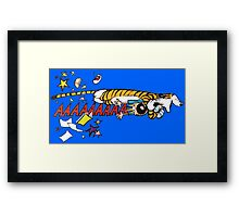 Hobbes Attacking Calvin-1 Framed Print