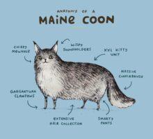 Anatomy of a Maine Coon Kids Tee