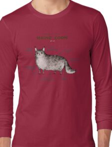 Anatomy of a Maine Coon Long Sleeve T-Shirt