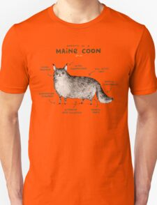 Anatomy of a Maine Coon Unisex T-Shirt