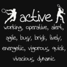 Active words by Sharon Stevens