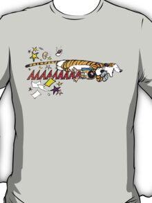 Hobbes Attacking Calvin-1 T-Shirt
