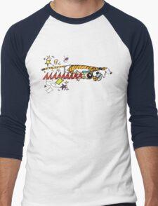 Hobbes Attacking Calvin-1 Men's Baseball ¾ T-Shirt