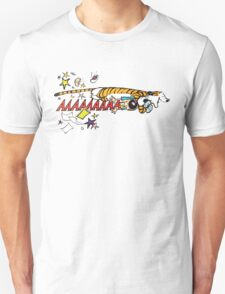 Hobbes Attacking Calvin-1 T-Shirt