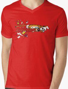 Hobbes Attacking Calvin-1 Mens V-Neck T-Shirt