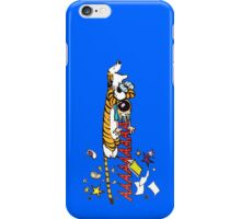 Hobbes Attacking Calvin-2 iPhone Case/Skin