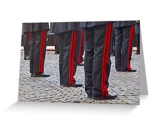Musical military band Greeting Card
