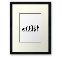 Evolution Juggling Framed Print