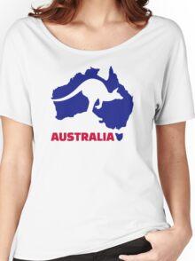 Australia map kangaroo Women's Relaxed Fit T-Shirt