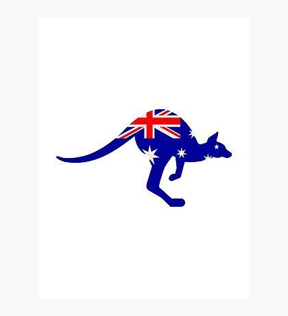 Australia flag kangaroo Photographic Print