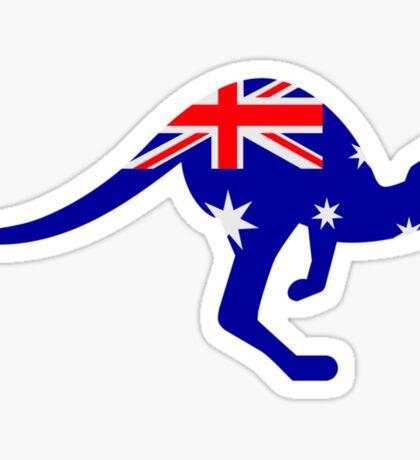 Australia flag kangaroo Sticker