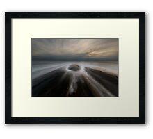 eye of the ocean Framed Print