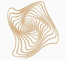 Orange Spiral Kids Tee