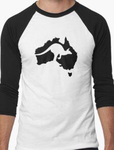 Australia map kangaroo Men's Baseball ¾ T-Shirt
