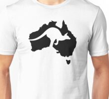 Australia map kangaroo Unisex T-Shirt