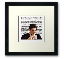 Agent Cooper - Coffee Framed Print