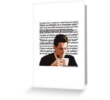 Agent Cooper - Coffee Greeting Card
