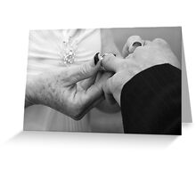 with this ring...2 Greeting Card
