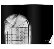 Arched Window Black and White #2 Poster