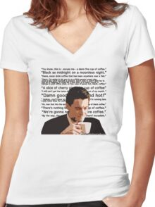 Agent Cooper - Coffee Women's Fitted V-Neck T-Shirt