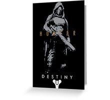 Destiny Hunter Action Figure Greeting Card