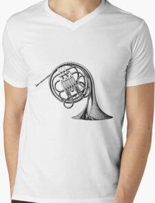 French Horn Musical Instrument. Mens V-Neck T-Shirt
