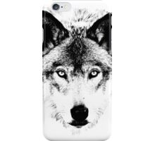 Wolf Face. Digital Wildlife Image. iPhone Case/Skin