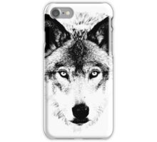Wolf Face. Digital Wildlife Image. iPhone Case/Skin