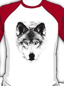 Wolf Face. Digital Wildlife Image. T-Shirt