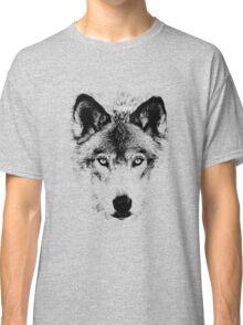 Wolf Face. Digital Wildlife Image. Classic T-Shirt