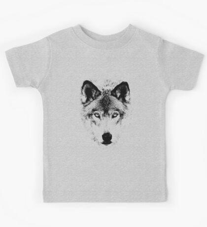 Wolf Face. Digital Wildlife Image. Kids Tee